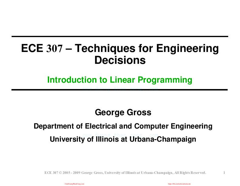 02-introlinearprogramming[1].pdf-Thư viện tài liệu, giáo trình, bài giảng, bài tập lớn, đề thi online  môn học Kỹ Thuật Ra Quyết Định Cho Kỹ Sư Engineering Decision Making  ĐH Bách Khoa HCM-0